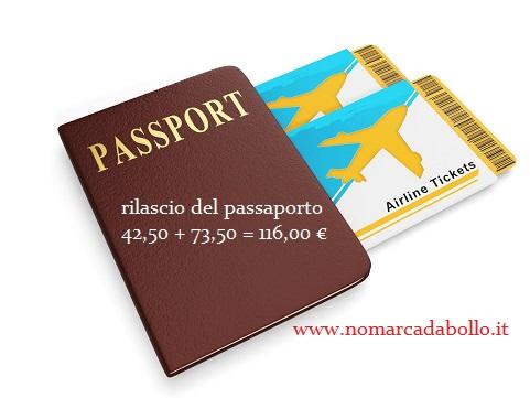 passa a 73,50 euro la marca da bollo sul passaporto