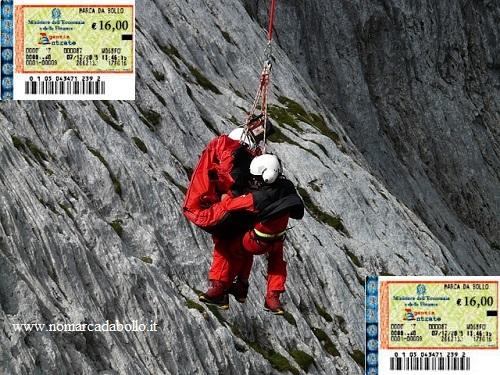 soccorso alpino in marca da bollo