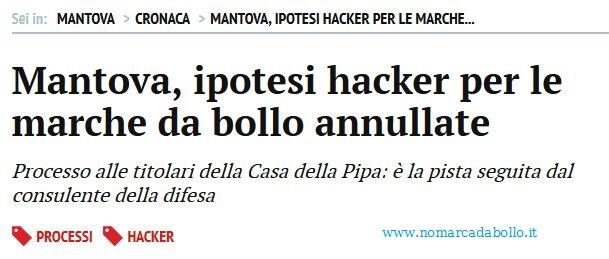 Hacker e marche da bollo