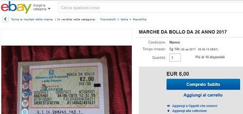 ebay marca da bollo da 2 euro
